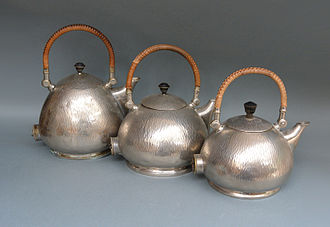 Peter Behrens - Three versions of the famous water kettle: 1,25L 1,0L and 0,75L