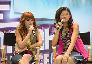 Shake It Up (U.S. TV series) - Co-stars Bella Thorne and Zendaya during a promotional event for the show