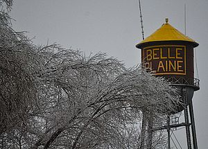 Belle Plaine, Kansas - Belle Plaine water tower (Jan 2017)