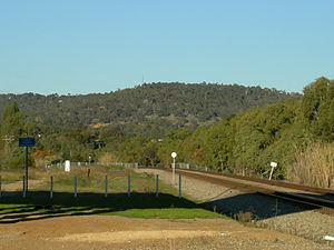 Greenmount, Western Australia - Greenmount hill from rail underpass of Roe Highway