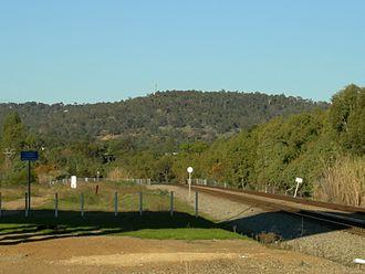 Greenmount, Western Australia - Greenmount Hill from rail underpass of Roe Highway