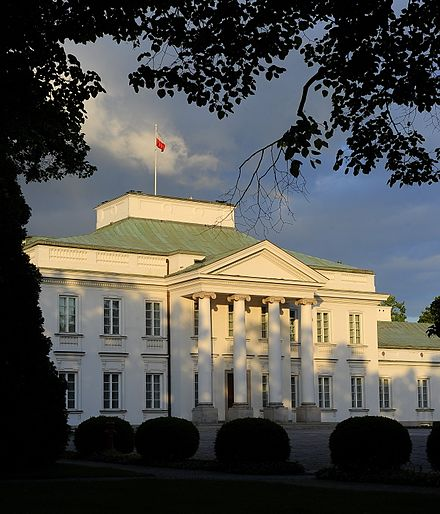 The Belweder Palace, often known simply as 'Belvedere', is the traditional and current official residence of the President. Belweder Warszawa.jpg