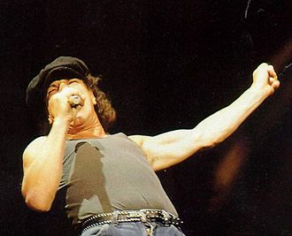 Back in Black - Brian Johnson replaced Bon Scott as vocalist and composed the album's lyrics.