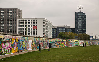 "A Weekend in the City - The song ""Kreuzberg"" tells a story set in the Berlin area of the same name, and mentions its East Side Gallery (pictured)."
