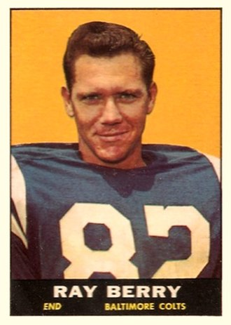Raymond Berry - Berry on a 1961 trading card