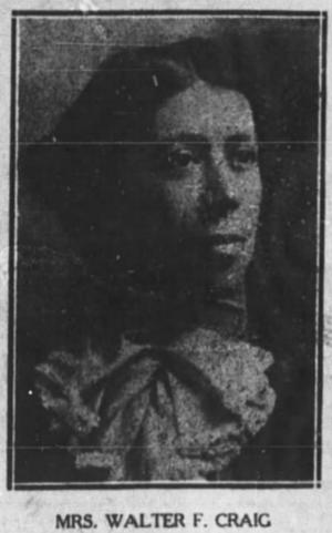 Walter F. Craig - Bertie Toney-Craig in 1909