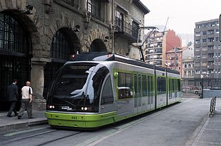 Bilbao tram Tram system in the Basque Country, Spain