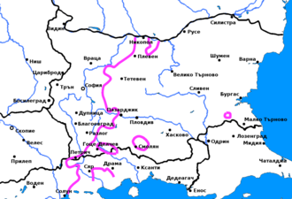 Southeastern Macedonian dialects - Yat border in the Bulgarian language, splitting the Southeastern Macedonian dialects in two