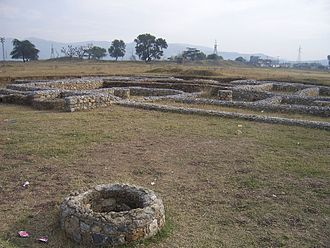 Jīvaka - Ruins of Achaemenid city of Taxila, Bhir Mound archaeological site, 6th century BCE.