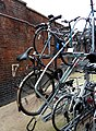Bicycle rack, Waterloo stn.jpg