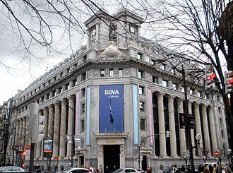 Banco Bilbao Vizcaya Argentaria - BBVA head-office building in Bilbao.