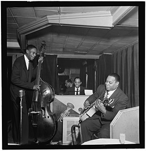 Leonard Ware - Leonard Ware (right) with Billy Taylor and Zutty Singleton in New York City, mid-1940s Photograph by William P. Gottlieb