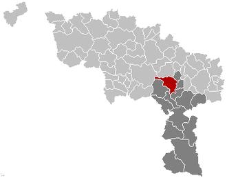 Binche - Image: Binche Hainaut Belgium Map