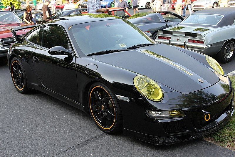 File:Black 997 Carrera with Porsche Tequipment Aerokit Cup.jpg