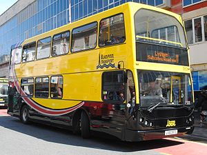 Blackpool Transport - A former Bus Vannin DAF DB250LF operated by Blackpool Transport