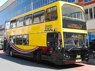 Blackpool Transport - A former Bus Vannin DAF DB250LF operated by Blackpool Transport