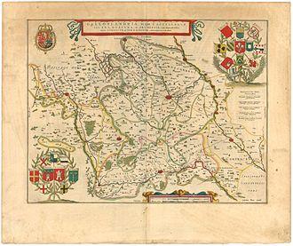 Romance Flanders - A 1645 map of Romance Flanders (1645)