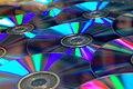 Blank Recordable DVD-R Discs underside shallow focus.JPG