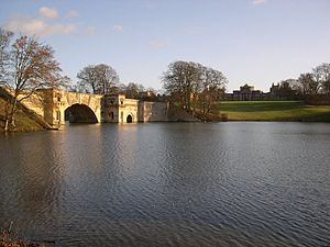 Capability Brown - At Blenheim Brown dammed the paltry stream flowing under Vanbrugh's Grand Bridge, drowning half the structure with improved results