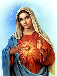 19th century painting of Our Lady.
