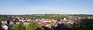 Weida, Thuringia - Image: Blick über Weida