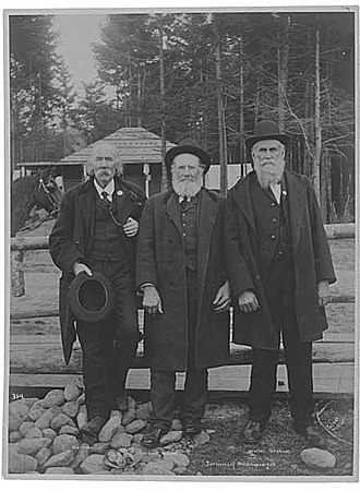 Woodinville, Washington - Ira Woodin (left) with  Carson D. Boren and Walter Graham (for whom the Graham Hill area is named) in 1905