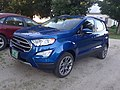 Blue Ford EcoSport East Burke VT July 2018.jpg