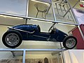 Blue racingcar at the National Museum of Scotland, pic1.JPG