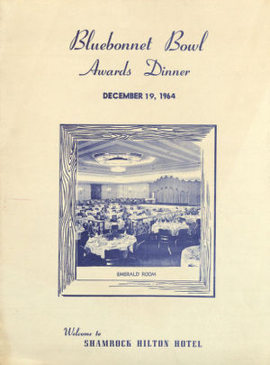 Bluebonnet Bowl - Image: Bluebonnet Bowl Awards dinner program and menu