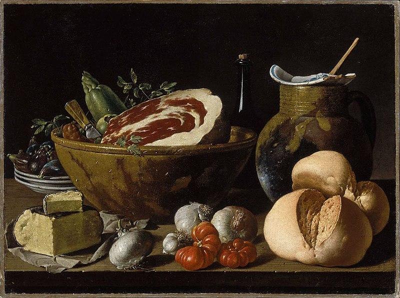 File:Bodegónconpan,jamon,quesoyverduras-meléndez.jpg