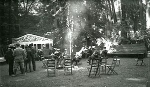 Bohemianism - Bohemian Grove during the summer Hi-Jinks, circa 1911–1916