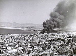 Italian bombing of Mandatory Palestine in World War II - Bombing of Haifa refinery