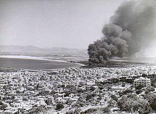 Italian bombing of Mandatory Palestine in World War II