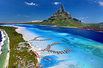 The Amazing Race 22 - While in French Polynesia, teams visited Bora Bora, an island located in the South Pacific Ocean.