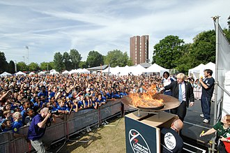 London Youth Games - Boris Johnson lights the flame at the 2010 London Youth Games Opening Ceremony