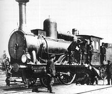 Borsig steam locomotive used on the Warsaw-Vienna railway Borsig steam locomotive.jpg