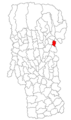 Location of Boteni