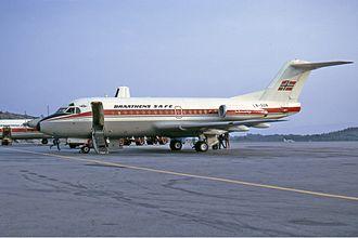 Braathens - Fokker F-28-1000 Fellowship in 1972