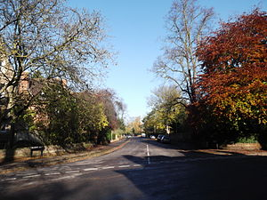 Bradmore Road - View north along Bradmore Road from the junction with Norham Gardens.