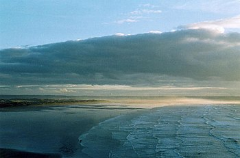 English: Braunton: Saunton Sands. A mist can b...