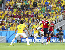 Brazil and Colombia match at the FIFA World Cup 2014-07-04 (6).jpg