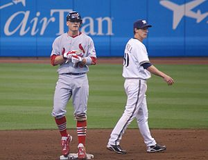 Brendan Ryan (baseball) - Ryan playing for the St. Louis Cardinals in 2007