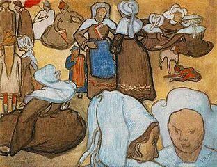 Breton Women and Chlidren
