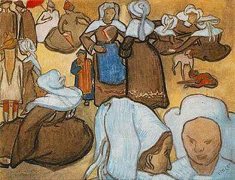 Cloisonnism - Image: Breton Women
