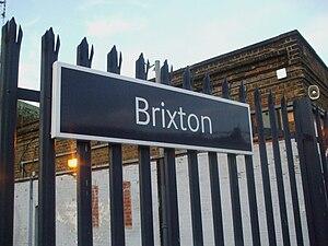Brixton railway station - Image: Brixton rail station signage