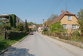 Brno-Mokrá Hora - Skoumalova street from south.jpg