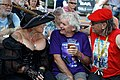 Broadstairs Folk Week Pavilion Gardens conversation, Broadstairs, Kent, England 01.jpg