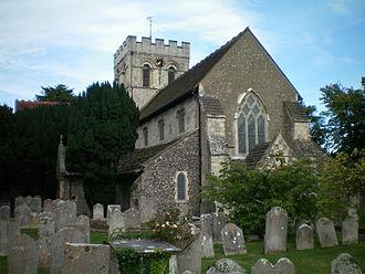 Thomas West, 8th Baron De La Warr - St Mary's church, Broadwater, where Thomas West, 8th Baron De La Warr, was buried