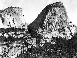 Little Yosemite Valley - Mount Broderick and Liberty Cap