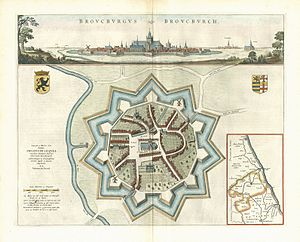 Bourbourg - Bourbourg in 1649